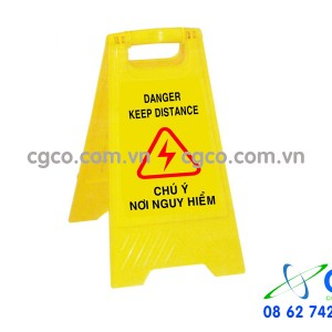 Biển báo chữ A chú ý nguy hiểm danger keep distanc