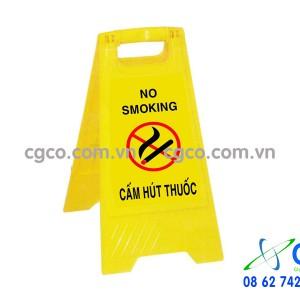 Biển báo chữ A cấm hút thuốc no smoking