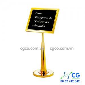 Bảng chào khách bằng inox mạ vàng cao cấp