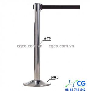 Cột chắn inox trắng dây căng loại 5m G28-LC