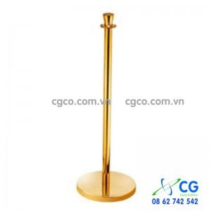 Trụ ngăn bằng inox 304 mạ vàng có dây chắn trùng G28-B