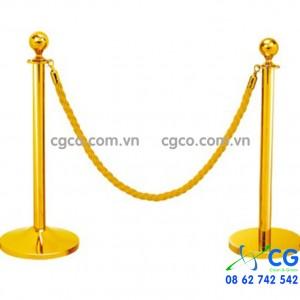 Cột chắn inox vàng dây nhung sự kiện G28-D