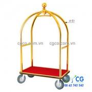 Xe đẩy hành lý inox chuyên dụng khách sạn sân bay D13-B