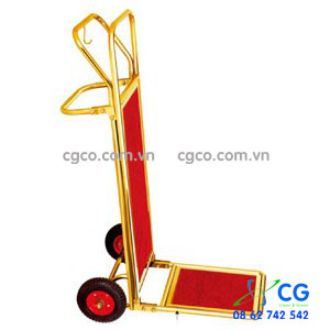 Xe đẩy hành lý khách sạn bằng inox 2 bánh D14-A