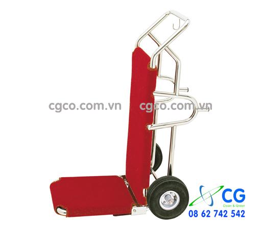 Xe đẩy kéo hành lý khách sạn inox đẹp giá rẻ D14-F