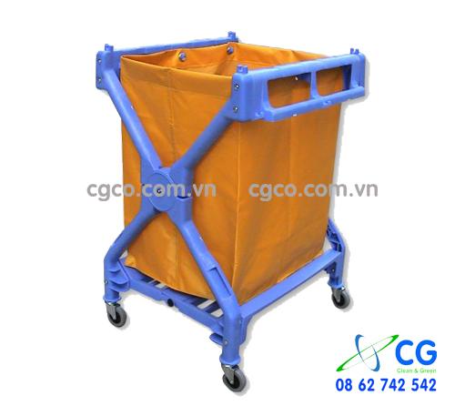 Xe đẩy đồ giặt là bằng nhựa trong khách sạn giá rẻ