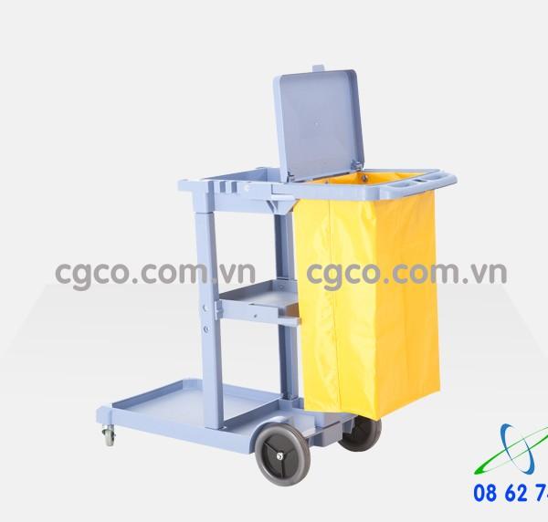 Xe đẩy làm vệ sinh bằng nhựa cao cấp