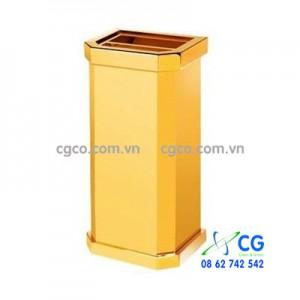 Thùng rác inox mạ vàng gạt tàn thuốc A3
