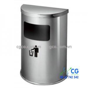 Thùng đựng rác inox bán nguyệt trắng A51