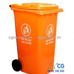 Thùng rác nhựa 240L màu cam màu đỏ