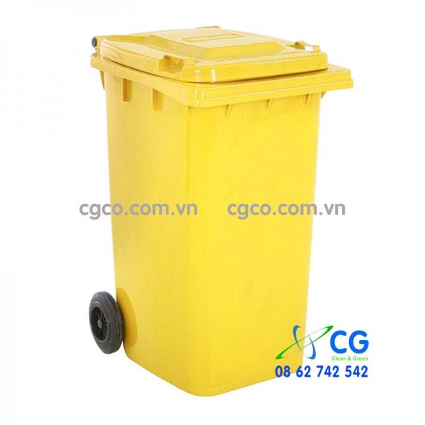 Thùng rác nhựa 240L y tế màu vàng