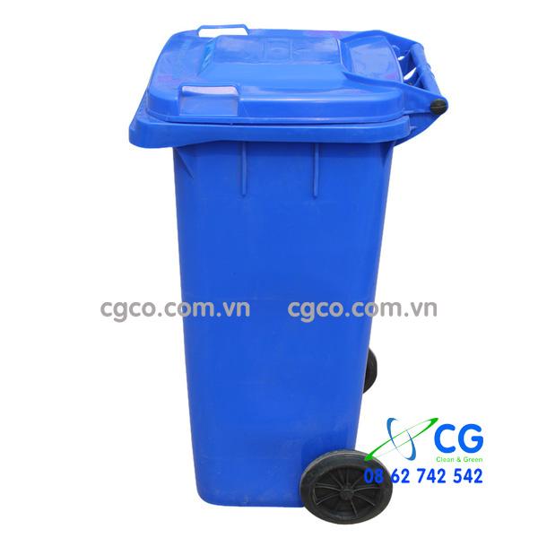 Thùng rác nhựa 240L màu xanh biển xanh dương