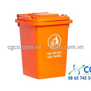 Thùng rác nhựa 60L không có bánh xe