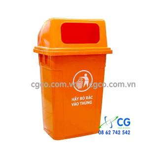Thùng rác nhựa 90L bỏ rác bên hông