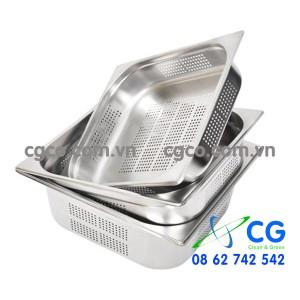 Khay GN 1/1 1/2 – khay GN có lỗ đựng thức ăn
