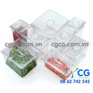Khay nhựa GN 1/1 1/2 1/3 1/4 1/6 1/9 – khay nhựa đựng thực phẩm