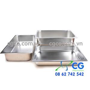 Khay GN 1/1 – khay inox đựng thức ăn tiệc buffet