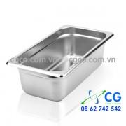 Khay GN 1/3 – khay inox để thức ăn lạnh tiệc nhà hàng