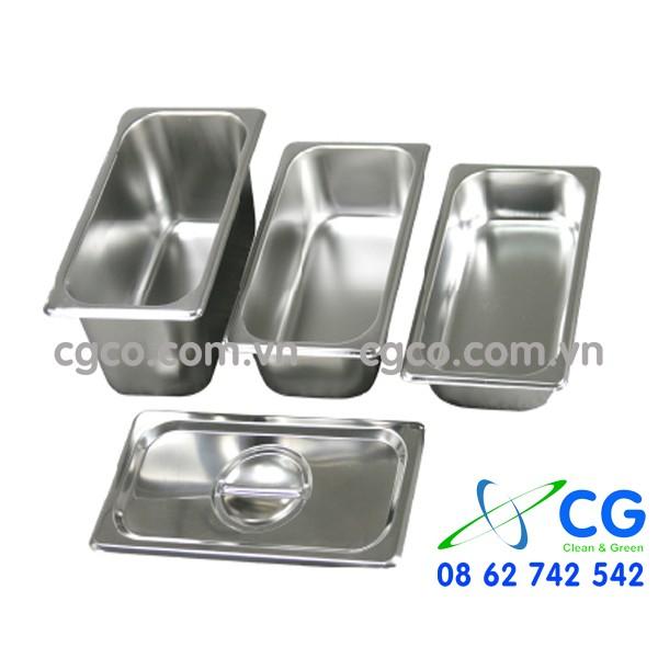 Khay GN 1/4 – khay inox để thức ăn trong bữa tiệc đứng