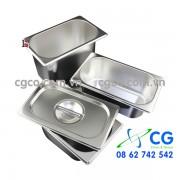 Khay GN 1/9–khay đựng thức ăn nồi hâm buffet – khay inox tự chọn