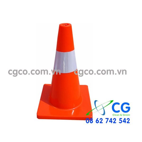 Cọc giao thông đế cam phản quang 45cm