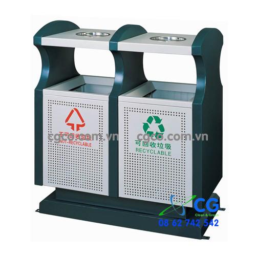 Chuyên cung cấp thùng rác cho các siêu thị trung tâm mua sắm loại 2 ngăn