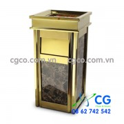Thùng rác đá hoa cương inox vàng A17-B