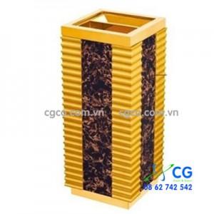 Thùng rác gỗ có khay gạt tàn thuốc khách sạn