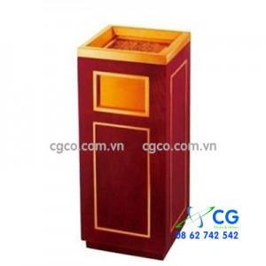 Thùng rác bằng gỗ có khay gạt tàn nhập khẩu